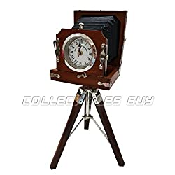 Vintage Style Wooden Camera With Clock Antique Handmade Replica Home & Office Decor Maritime Collection Unique Marine GiftThere is no time better than now Quotes