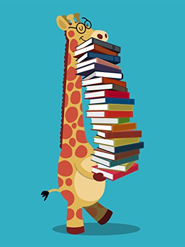 Borsa Tote The Happy Librarian Book Lovers 38 x 42 cm in azzurro blu