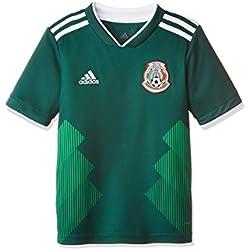 Jersey Oficial Selección de México Visitante para Niños, Unisex, color Verde, Chico 9-10 años