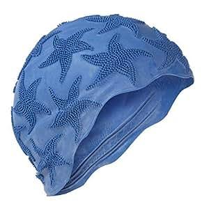 Amazon.com : Fashy Ladies Blue Swimming Bathing Cap Swim