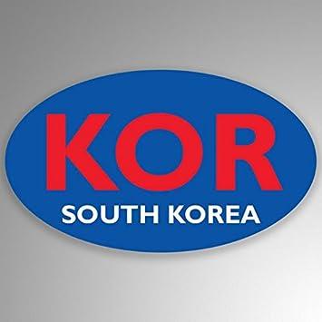"South Korea Flag Oval car window bumper sticker decal 5/"" x 3/"""