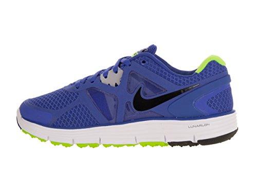 Nike Barn Lunarglide 3 (gs) Mega Blå / Svart / Hvit / Wlf Grå Løpesko 4 Barn Oss