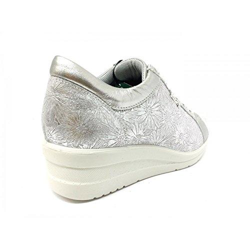 1265600 SOFT Argento Daisy Camoscio Argento Stampato Donna ENVAL Scarpe Sneakers vFnxZvaB