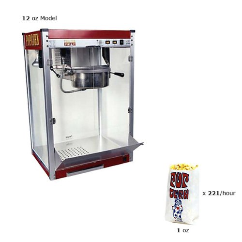 Paragon Theater Pop 16 Ounce Popcorn Machine for Professional Concessionaires Requiring Commercial Quality High Output Popcorn Equipment