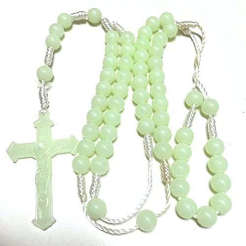 "Gorgeous Gift! Green Glow in the Dark 22"" Rosary Beads Cross Necklace / Chaplet Crucifix Chain Pendant Prayer Holy Praying Pray Unique Beautiful Long Fashion Jewelry Bracelet Jesus Beaded Christianity Altar Vestment Tabernacle Monstrance Religious Chasuble Catholic Jesus Thurible Infant of Prague Orthodox Santos Lot Cassock Stole Censer Ciborium Cope Shrine St Michael Pyx Holy Water Religious Medals Stations of the Cross Sacred Heart Fatima Mary Surplice Alb Missal Saint Michael Triptych Lourdes Olive Wood Mitre Pocket Shrine Agnus Dei Holy Family Relic Document Black Madonna Pope Francis Sick Call Paten Theca Christianity St Anthony Medal Pieta Chalkware Bishop Pall Guadalupe Reliquary Paraments Jude Prayerbook Praying Hands Nun Doll Joan of Arc Blessed Santos Crown Angel Statue St George Vintage Bible Lampada Christian Jewelry Risen Christ Daprato Magdalene Milagro Rosery Last Supper Breviary"