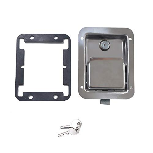 Chengstore Car Stainless Steel Trailer Toolbox Lock Door Lock in-Line Lock Tool Tear Drop Latch Stainless Steel Box Lock Stainless Steel Paddle Latch by Chengstore (Image #5)