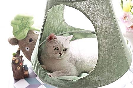 Amazon.com: Hamaca colgante para gato, cama desmontable ...
