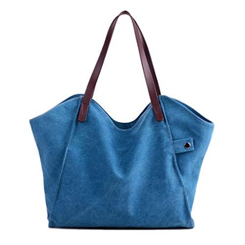 Bolso Top Canvas Crossbody De Big Shoulder Mujer Color Ocio Bags Alta Soft Capacidad Bag Azul Bag Wallet Azul YWHwrYqf