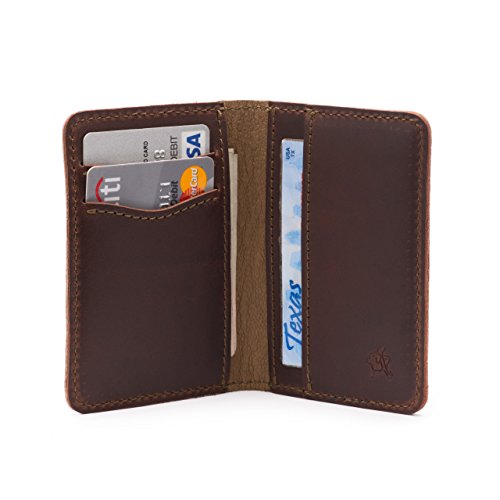 Shoes Saddleback (Saddleback Leather Front Pocket Bifold Wallet- 100% Full Grain Leather, RFID Shielded Thin Bifold Wallet with 100 Year)