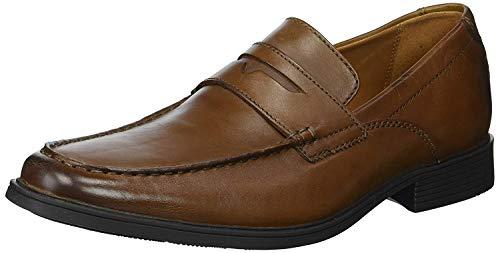 Clarks Men's Tilden Way Penny Loafer, tan Leather, 10 Medium US