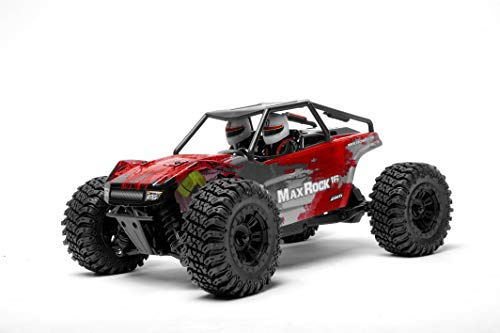 (Exceed RC Scale Rock Racer Radio Car 1/16th Scale 2.4Ghz Max Rock 4WD Powerful Electric Remote Control 100% RTR Ready to Run with Waterproof Electronics (Red))