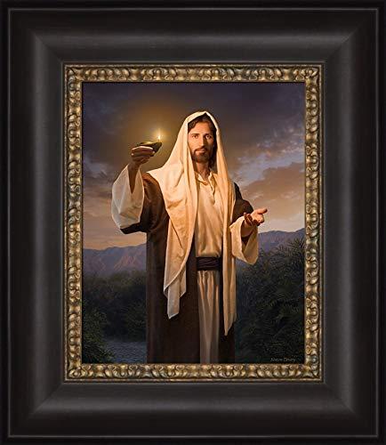 (Simon Dewey Lead, Kindly Light- Christian Art Jesus Christ (Framed,)