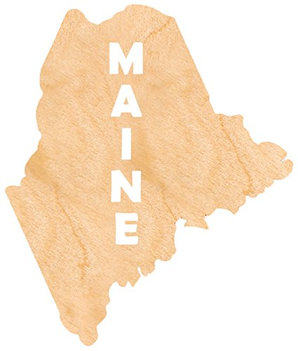 aMonogram Art Unlimited S98930-ME-12 State Of Maine Wooden Shape With State Name and 1/8 Burch plywood Wall Decor, 12'' by aMonogram Art Unlimited