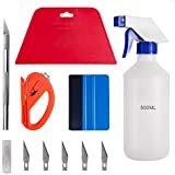 Luxiv Window Tint Application Tools Kit, 5 Pcs Vehicle Glass Protective Film Installing Tool Car Window Film Squeegee Automotive Film Scrapers Window Tint Tools (A)