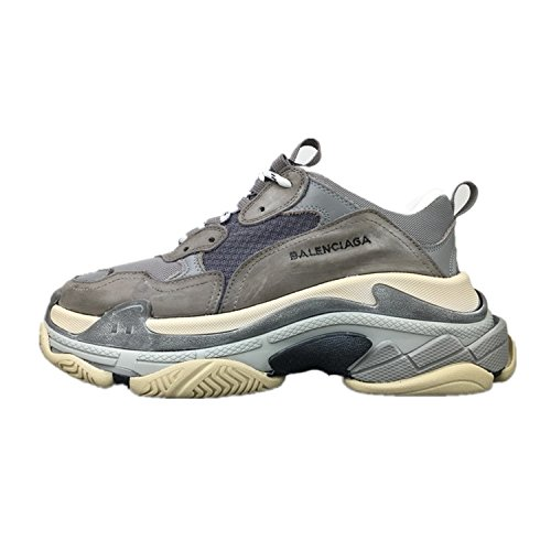 Balenciaga Fashion Shoes Mens & Womens Vintage Triple S Trainers Sneakers Grey