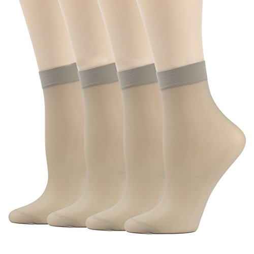 Socks for Women Nylon, INCHER Support Pantyhose Ankle High Tights Hosiery Tights Socks Low-Cut Socks Women's, 4 Pairs, ()