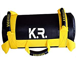 cross fit Sandbag exercise bodybuilding Fitness Crossfit Weight Lifting Workout Power Weight Bag Bulgarian bag 10 Kg - Yellow
