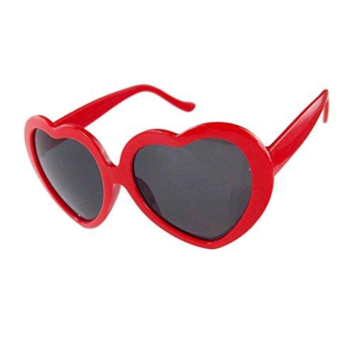 Providethebest sol Negro Gafas corazón Amor Diseño forma lindo rojo del la de de a1xaq4r