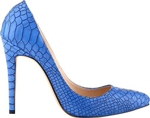 CFP , Damen Durchgängies Plateau Sandalen mit Keilabsatz , blau - blau - Größe: 41