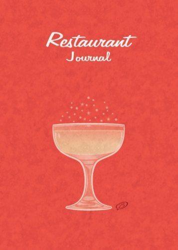 Restaurant Journal: Red Cover - 5x7 inches - Space for 100 - Journal Restaurant