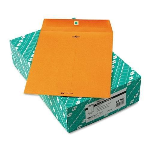 QUALITYPARK 37797 Clasp Envelope, 10 x 13, 32lb, Light Brown, 100/Box