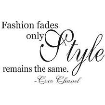 Fashion fades Coco Chanel wall decal vinyl sticker