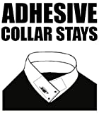 TAVERNIT 30 Pairs of ADHESIVE COLLAR STAYS No Curl Polo Shirts Collar Styx Sticks