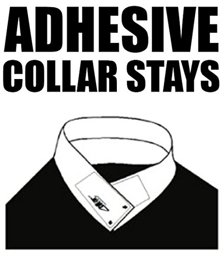30 Pairs of ADHESIVE COLLAR STAYS No Curl Polo Shirts Collar Styx Sticks