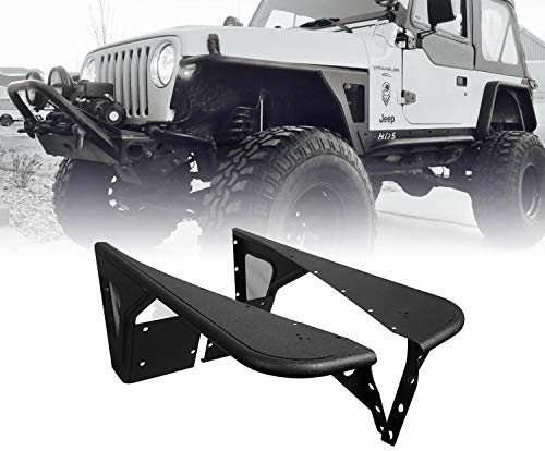u-Box Jeep TJ Front Flat Fender Flares Steel Kit for 1997-2006 Wrangler TJ