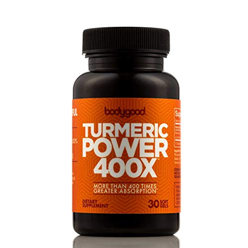 Turmeric Power 400X™ with 400 Times Greater Absorption Than Ordinary Curcumin Turmeric! Patented Pain Relief for Back, Joints. Normalize Inflammation Levels. (30 Day Supply)
