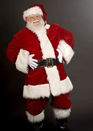 LUXURY DELUXE DEEP VELVET SANTA-FATHER CHRISTMAS OUTFIT-SUIT-COSTUME,FOR MEN - LUXURY DELUXE DEEP VELVET SANTA-FATHER CHRISTMAS OUTFIT-SUIT-COSTUME