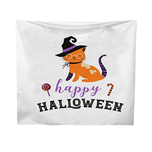 Leighhome Tapestry for wallquote tapestryHappy Halloween - Cats