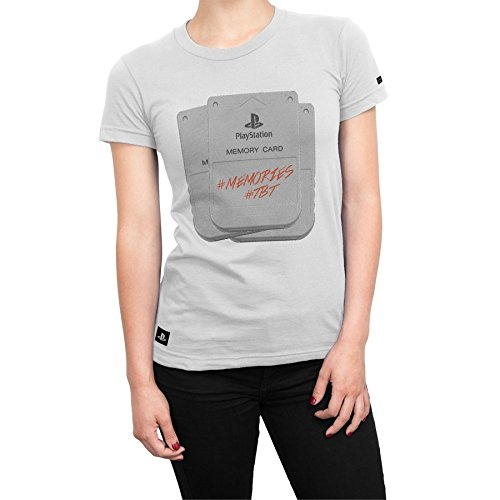 Camiseta Playstation Feminina Memory Card - Branco - Gg
