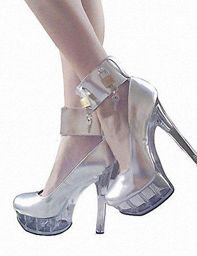 Event A Uomo Black argento Matrimonio Uk10 scarpe Heel Evening arrotondato pelle Silver tacco Eu44 GGX US12 Heel Plateau Cn46 Heels Casual dIvwggq