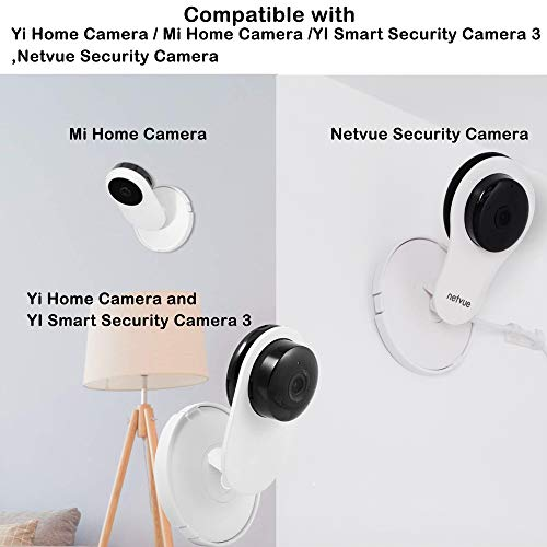 (Pack of 4) Aboom Wall Mount Compatible with Yi Home Camera Customized Stand Bracket for YI 1080p/720p Home Camera Designed for USA (NOT Included Camera)