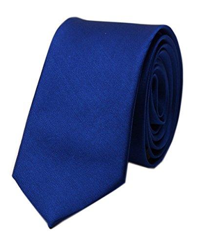 Collegiate Tie (Men's Royal Blue Ties Formal Solid Color Grooms Christmas Soft Dances Neckties)