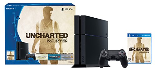 PlayStation 4 500GB Console - Uncharted: The Nathan Drake Collection Bundle (Physical Disc)[Discontinued] (Best Price For Playstation 4 On Black Friday)