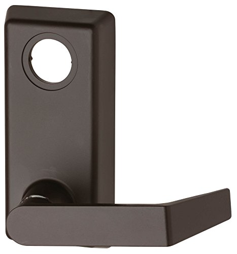 Von Duprin 230L Aluminum Lever Trim with Rim Cylinder for 22 Series Exit Device, Schlage C Keyway, Sprayed Dark Bronze Finish ()