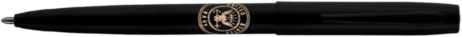 Fisher Space Pen Ballpoint Pen, Matte Black Navy Insignia (M4BNAV)