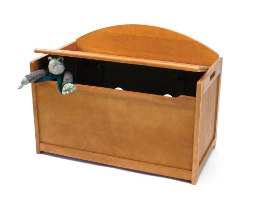 Lipper International 598P Child's Toy Chest, 33.25'' W x 17.75'' D x 24.5'' H, Pecan Finish by Lipper International