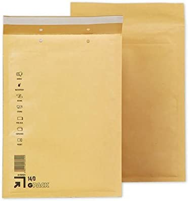 Caja 100 Sobres Acolchados D4. Medidas exteriores 200 x 275 mm ...