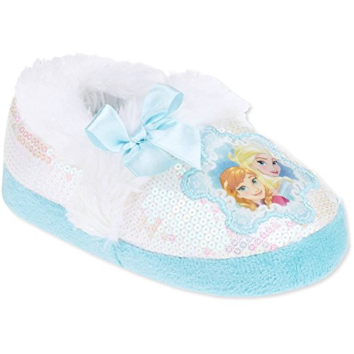 Disney Frozen Toddler Preschool Girls Anna Elsa Slippers (XXL Preschool/School Age 13-1)