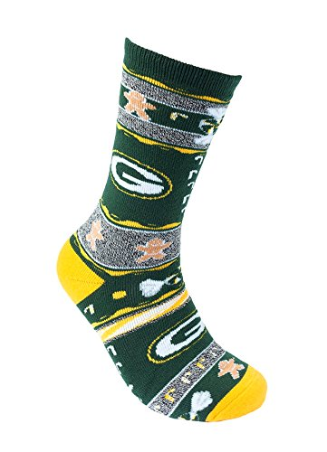 [For Bare Feet Ugly Christmas Xmas Holiday Sports Socks NFL NCAA MLB NBA NHL (Medium, Green Bay] (Florida Themed Costumes)