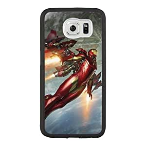 Custom made Case,Iron Man PC Plastic Cell Phone Case for Samsung Galaxy S6,Black Case With Screen Protector (Tempered Glass) Free S-6628397