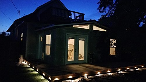 FVTLED 30pcs Low Voltage LED Deck Lights kit Φ1.38'' Outdoor Garden Yard Decoration Lamp Recessed Landscape Pathway Step Stair Warm White LED Lighting, Bronze by FVTLED (Image #7)