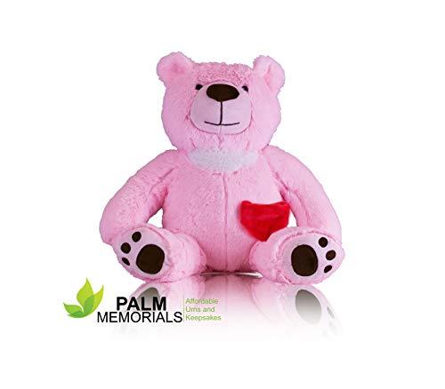 Palm Memorials Teddy Bear Keepsake Cremation Urn (Pink)