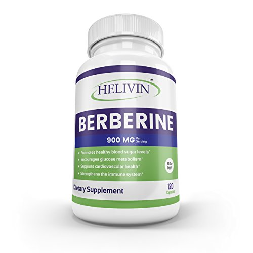 Cheap Helivin Berberine Supplement for Blood Sugar Support – 900 MG per Serving – 120 Capsules – 60 Day Supply