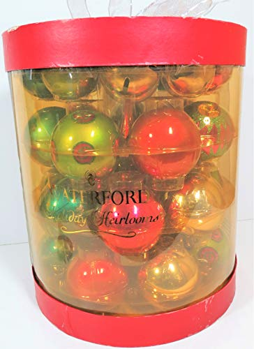 Waterford Holiday Heirlooms Vintage 31 Piece Glass Ornaments Including Tree Topper Christmas Set