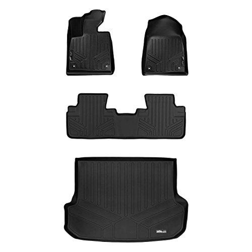 SMARTLINER Custom Fit Floor Mats 2 Rows and Cargo Liner Set Black for 2016-2019 Lexus RX (No RXL Models)