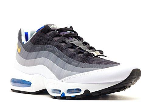 Nike Heren Air Max 95 Sneakers Nieuwe, Limited Edition Qs Londen Sneakers Nieuw, Wit / Grijs / Blauw 586361-070 Sz 12